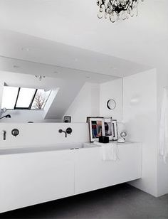 WHITE-MANSARD ROOF WC