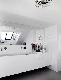 WHITE-MANSARD ROOF WC