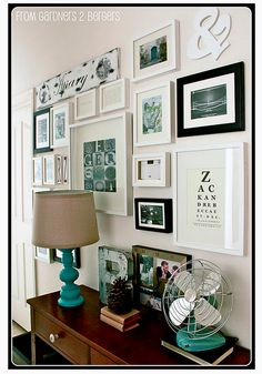 from Gardners 2 Bergers: Gallery Wall + Tutes & Tips The absolute easiest way to hang a wall gallery Photowall Ideas, Inspiration Wand, Home And Deco, Picture Frames, Picture Walls, Photo Walls, Sweet Home, House Design, Interior Design