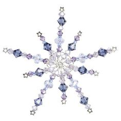 Starry Night Snowflake: Create a winter snowflake with blue and purple hues for use as an ornament or decor.
