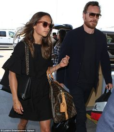 A-list couple: Alicia Vikander and Michael Fassbender were spotted arriving at LAX on Tuesday to catch a flight out of Los Angeles