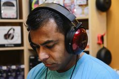 Me with Fostex TH900 at Amplified; The Headphones Store
