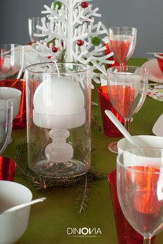 D coration de table rose poudr e pour no l une table - Decoration de noel traditionnel ...