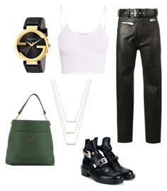 """""""Untitled #29"""" by theaclemetsen on Polyvore featuring Balenciaga, BasicGrey, ERTH, Tory Burch and Gucci"""