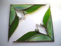 Stained Glass Window Corners Pair Glass by CreativeSpiritGlass