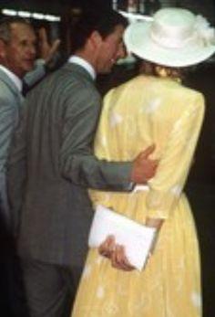 April 12, 1983: Prince Charles & Princess Diana in Buderim, Queensland, Australia.