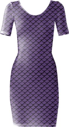 Mermaid Amethyst Short Sleeved Bodycon Dress - Available Here: http://printallover.me/products/0000000p-mermaid-amethyst-1