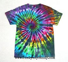 Adult Medium Tie Dye Shirt Inverted Rainbow by TieDyeBySandy, $18.00