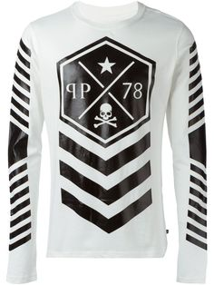 Philipp Plein 'Lines' T-shirt - that should be mine! Polo Vest, T Shirt Vest, Sweater And Shorts, Customise T Shirt, Vest Outfits, Clothing Co, Streetwear Fashion, Shirt Designs, Menswear