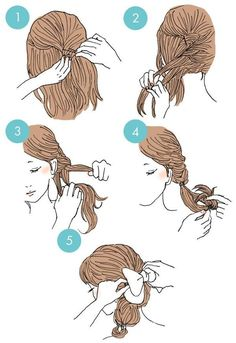 Fancy Hairstyles, Cute Quick Hairstyles, Everyday Hairstyles, Step By Step Hairstyles, Let Your Hair Down, Easy Updo, Hair Arrange, Hair Inspiration, Super Easy