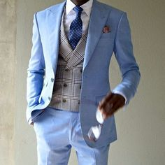 Buy New Arrival Light Blue Beach Wedding Suit 2 Pieces Groom Tuxedos Mens Prom Suits Casual Blazer Groomsman Wear Jacket+Pants . Mens Fashion Suits, Blazer Fashion, Mens Suits, Fashion Menswear, Gentleman Mode, Gentleman Style, Stylish Men, Men Casual, Casual Suit
