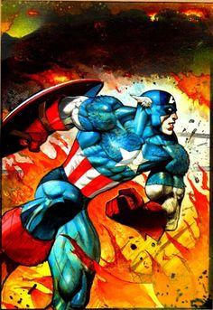 Captain America by Simon Bisley