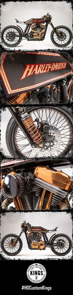 Myers-Duren Harley-Davidson built this Sportster around a 1914 Harley tank they had hanging on the shop wall. | Harley-Davidson #HDCustomKings