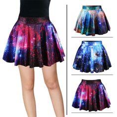 """Harajuku star galaxy high waist skirt - Use code """"battytheragdoll"""" for 10% off!"""