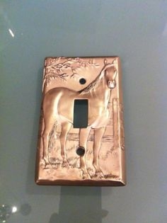 Seagull Pewter Light Switch Cover - Horse Theme.
