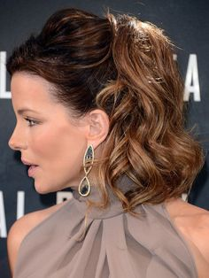 Kate Beckinsale 1960s Inspired Ponytail Hairstyle for Women