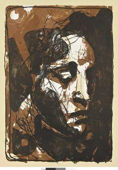 Kuutti Lavonen: Mikael, 2011, litografia. (KUVA: RAUNO TRASKELIN) Cy Twombly, Caravaggio, Tempera, Rembrandt, Finland, Buddha, Fine Art, Painting, Historia