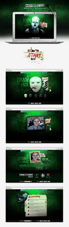 Crimi Clowns | by Alexandre Gilmart, via Behance #webdesign #emakina #crimiclowns
