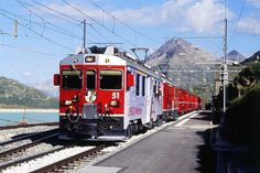 RhB - train 1617 from St. Moritz to Tirano on 16/08/2009 in Ospizio Bernina with…