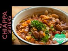 Healthy Tuscan Bean Soup - YouTube