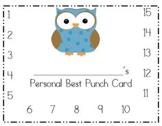 Behavior punch cards for an owl themed classroom!