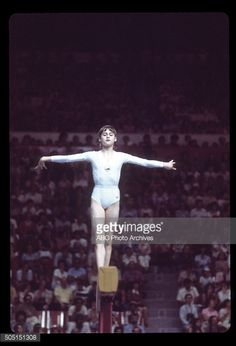OLYMPICS - Women's Gymnastics - The 1976 Summer Olympic Games aired on the ABC Television Network from July 17 to August 1, 1976. Shoot Date: July 18, 1976. NADIA COMANECI (ROMANIA), BALANCE