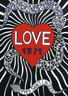 Yves Saint Laurent, Love 1971