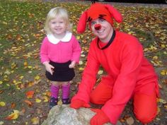 emily elizabeth and clifford costume idea for molly and daddy - Clifford The Big Red Dog Halloween Costume