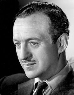 David Niven ♦ English actor and novelist. Hollywood Men, Golden Age Of Hollywood, Hollywood Stars, Hollywood Actresses, Classic Hollywood, Tyrone Power, Old Film Stars, Movie Stars, Tv Actors