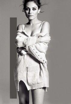 Image about Mila Kunis in * Famous & Gorgeous * by Barbie Marley Eberle ヅ Mila Kunis Pics, Mila Kunis Style, Mila Kunis Photoshoot, Editorial Fashion, Fashion Trends, Girl Crushes, Lady, Ukraine, Boudoir