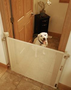Retract-A-Gate ~ Retractable Dog Gate