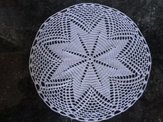 White round doily hand made in pure natural cotton with a diameter of Inch ideal as a table centerpiece, will add a touch of class and personality to the room. Table Centerpieces, Doilies, A Table, Diy And Crafts, Crochet Hats, Pure Products, Personality, Etsy, Pattern
