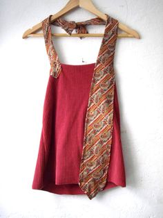 Funky Red Backless Tank Shirt/ Eco Halter Tie by FuriousDesigns, $38.00