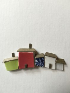 Sea glass and pottery art by sharon nowlan 6 by 8 by PebbleArt
