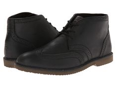 Nunn Bush Dodge Wing Tip Chukka Boot Black Smooth - 6pm.com