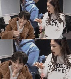 "was taenniemylove on Instagram: ""🤪xD #taennie#jennie#taehyung#chanelcouple#minichanels#tatanini#v#bts#blackpink#guccicouple#blackbangtan#miniguccis#taenniewegotmarried#gree…"" Swag Couples, Kpop Couples, Kim Jennie, Black Pink, Blackpink And Bts, Korean Couple, Romance, K Idol, Anime Couples Drawings"