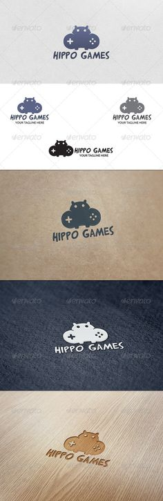 Hippo Games - Logo Template. The design itself is quite obvious, but it ties in with the name in a cute and fun way