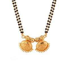 Gold Toned Wati Mangalsutra With Double String