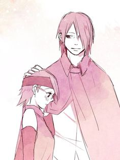 Sarada and Sasuke Uchiha #Naruto