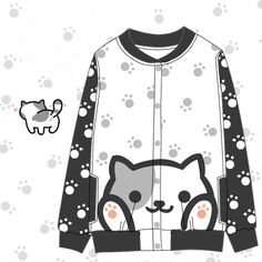 Japanese kawaii anime fleece jacket
