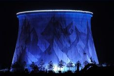 A Fast Breeder reactor powered by plutonium and cooled by liquid was planned for Kalkar, a town in Germany close to the Belgian and Dutch borders. The plan was halted site in 1991 turned into Wunderland Kalkar. The outside of the cooling tower was painted with a cheery mountain mural.