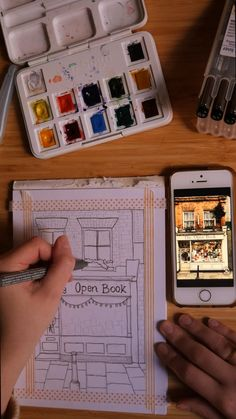 Petit diy d'une aquarelle pour mon art journal Watercolor Techniques, Art Techniques, Art Education Resources, Nature Journal, Open Book, Lettering, Project Life, Journal Ideas, Art Forms