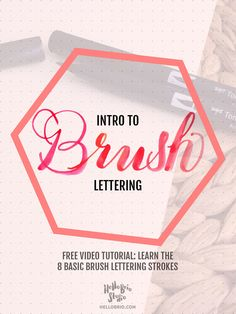 In this beginner brush lettering post, I will show you how to create each  letter of the alphabet based on basic calligraphic strokes. Follow along  with the detailed video demonstrations.
