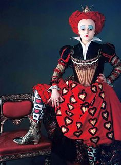 the red queen ~ alice in wonderland, helena bonham carter