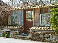 Origineller Sichtschutz Im Garten Landschaft Holzzaun Bunt ... Mauerwerk Als Sichtschutz Haus Design Idee