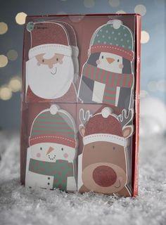 Cute character mini christmas cards
