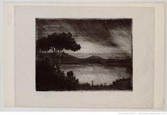 Lac de Nemi, près Rome : [estampe] (3e état) / Lepic 1870 | Gallica