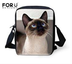 Bolsos Mujer Women Casual Cross body Bags Persian Cat Printing Messenger Bags for Ladies Brand Designer Mini Travel Shoulder bag #Affiliate
