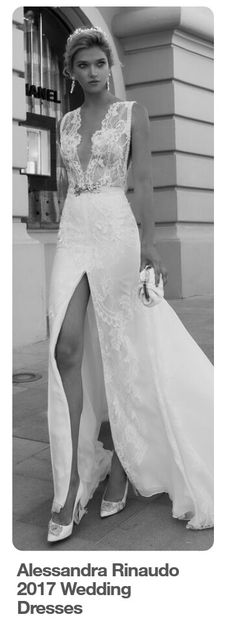"""46 mejores imágenes de vestidos de novia con """"tajo al frente"""