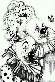 Resultado de imagem para imagens de palhacos para tatuagem